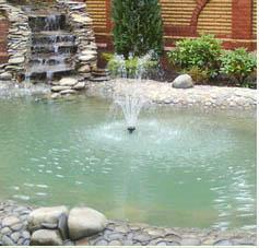 Фонтан в центре бассейна - отличная идея